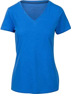 9b7b0e65 Tommy Hilfiger Womens Slub V Neck T Shirt (Medium, New Coral) at ...