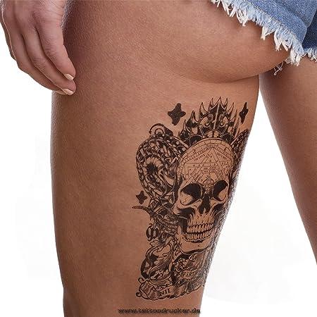 Calavera Totem Tattoo – negras Indian una vez Arm Tattoo – hb128 ...
