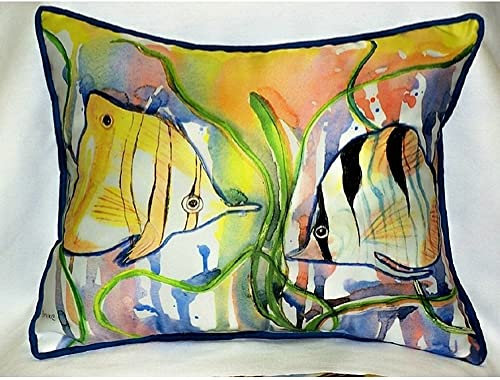 Betsy Drake HJ305 Angel Fish Art Only Pillow 15 x22
