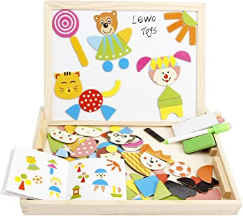 Lewo Magnetic Jigsaw Puzzles Toddler Toys Travel Puzzle