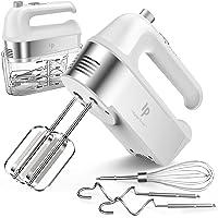 Handmixer elektrisch, 450 W keukenmixers met schaal Cup opbergkoffer, Turbo Boost-/zelfbedieningssnelheid + 5 snelheid…