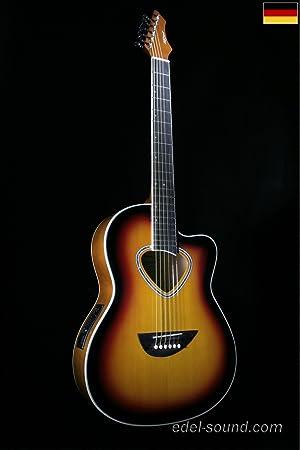Korp 40` Westerngitarre Jane natur Decke Fichte Linde Cut EQ, breiter Hals