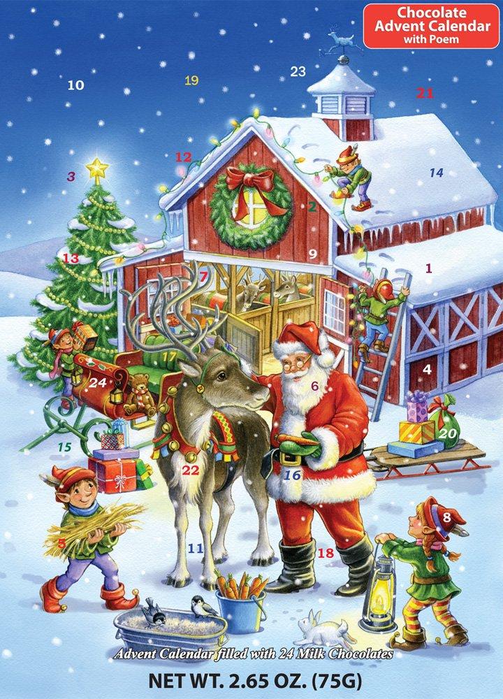 Vermont Christmas Company Ready Reindeer Chocolate Advent Calendar