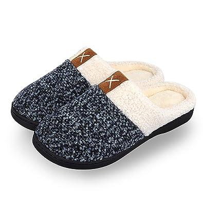 winter house slippers womens mens memory foam slippers comfort plush rh amazon co uk Men's House Shoes UGG Slippers