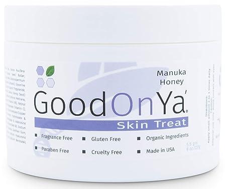 Manuka Honey Face Moisturizer with Coconut Oil, Cocoa Butter, Aloe Vera, Vitamin E and Vitamin C – Anti Aging and Skin Lightening Cream – Pore Minimizer and Whitening MSM Cream – 8 oz