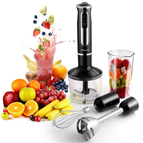 500 Watt 4-in-1 Hand Blender with 8 Speed, Powerful Immersion Handheld