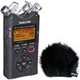 Tascam DR-40 V2 4-Spur Audio-Recorder + KEEPDRUM Fell-Windschutz WSBK
