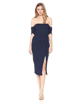79507875c7dc Elliatt Women s Apparel Women s Acacia Textured Off Shoulder Strapless  Pleated Midi Dress at Amazon Women s Clothing store