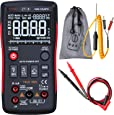 Bside ZT-X True RMS Digital Multimeter 3-Line Display 9999 Counts Button Design Auto-Ranging DMM Temperature Capacitance AC/DC Voltage Current Multi Meter Tester with Analog Bargraph