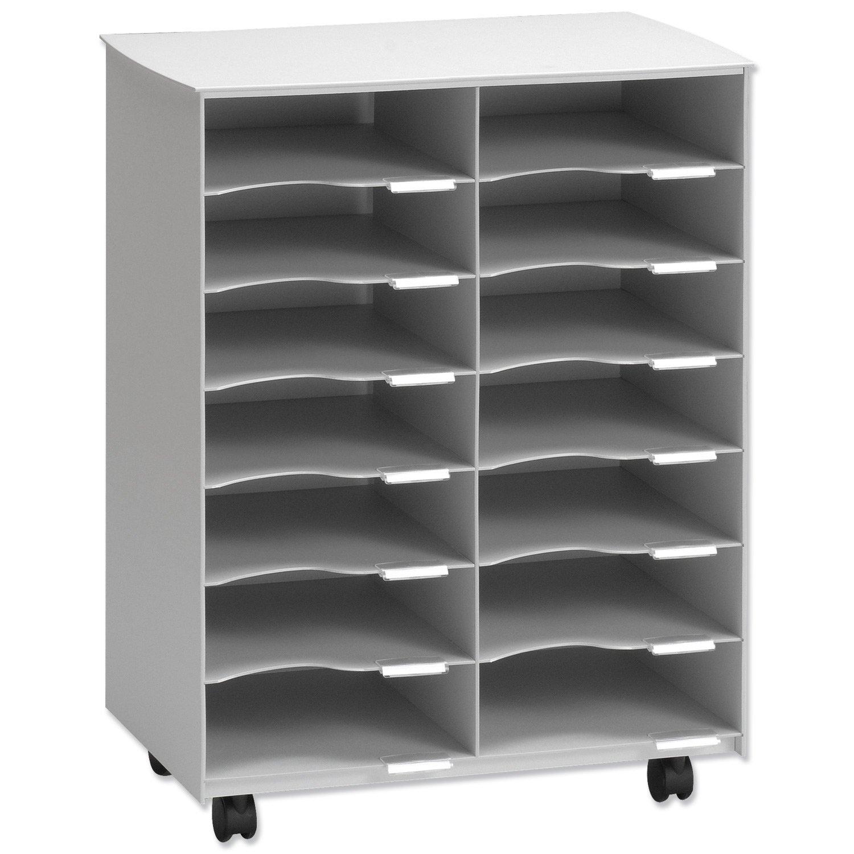 Fast DC14.02 - Mueble de archivo multiusos gris con 14 casillas 3660141060492