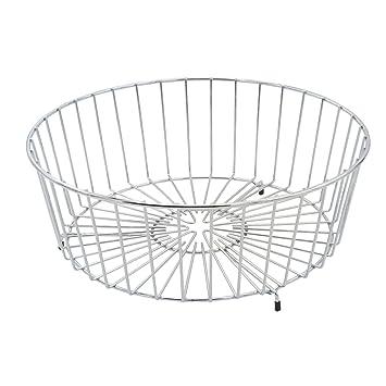 SILBERTHAL Escurridor de platos | Redondo | Cesto para la vajilla | Palero y estante de lavado | Cesto de cubiertos | Dimensiones: 35 x 35 x 14 cm: ...