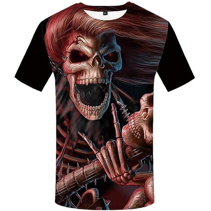 a273799c Albina Collins Skull T Shirt Blood Clothes Funny Hip-Hop Tees 3D Tops Men  Short