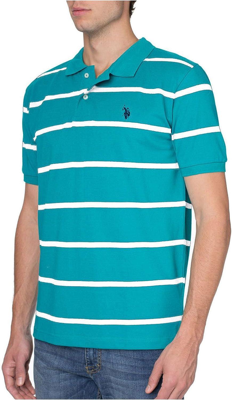 LAPASA Polo para Hombre de Manga Corta Camiseta Casual 100/% Puro Algod/ón con Raya M19 Versi/ón 2020