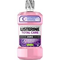 Listerine Alcohol Free Mouthwash, Total Care Zero, Fluoride Mouthwash for Bad Breath, 1L