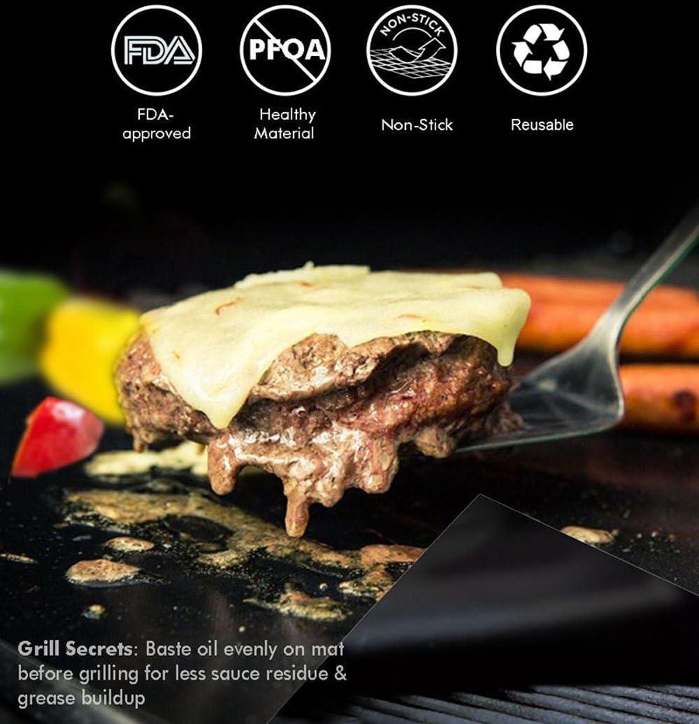 Camping Non-Stick Teflon Summer Garden Baking Mat WiTa-Store Reusable Grill Mats Non-Stick BBQ Low Fat Grilling Mat