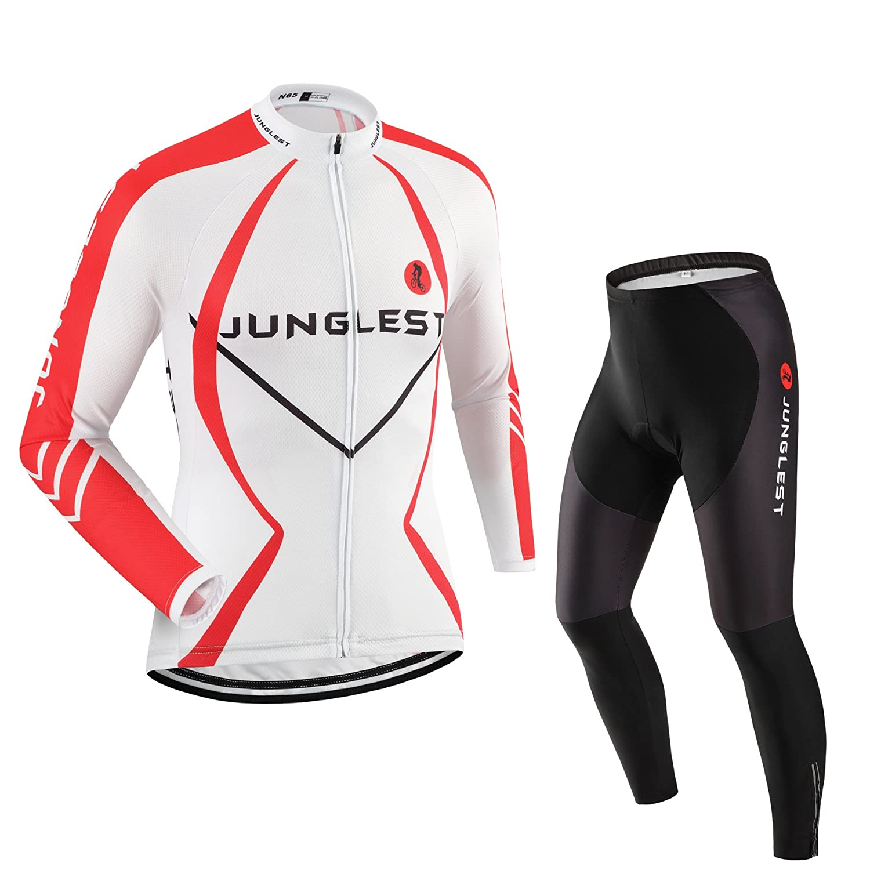Cycling Jersey Set Wen長袖(S ~ 5 X L、オプション:よだれかけ、3dパッド) n63 B01BSYSBM0  タイプ:セット(フリース) XXXL(General pad)(186-192cm/90-94kg)