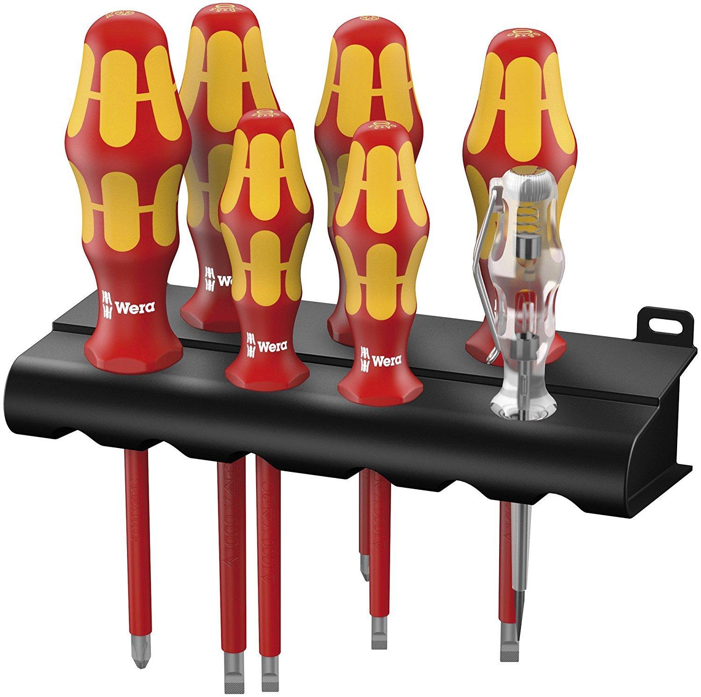 Wera WER006148 Kraftform Vde Screwdriver Set 7 Piece 05006148001 Hand Tools Screwdrivers - Screwdriver Bits and Allen Keys VDE Insulated Screwdrivers Wera VDE Screwdriver Sets