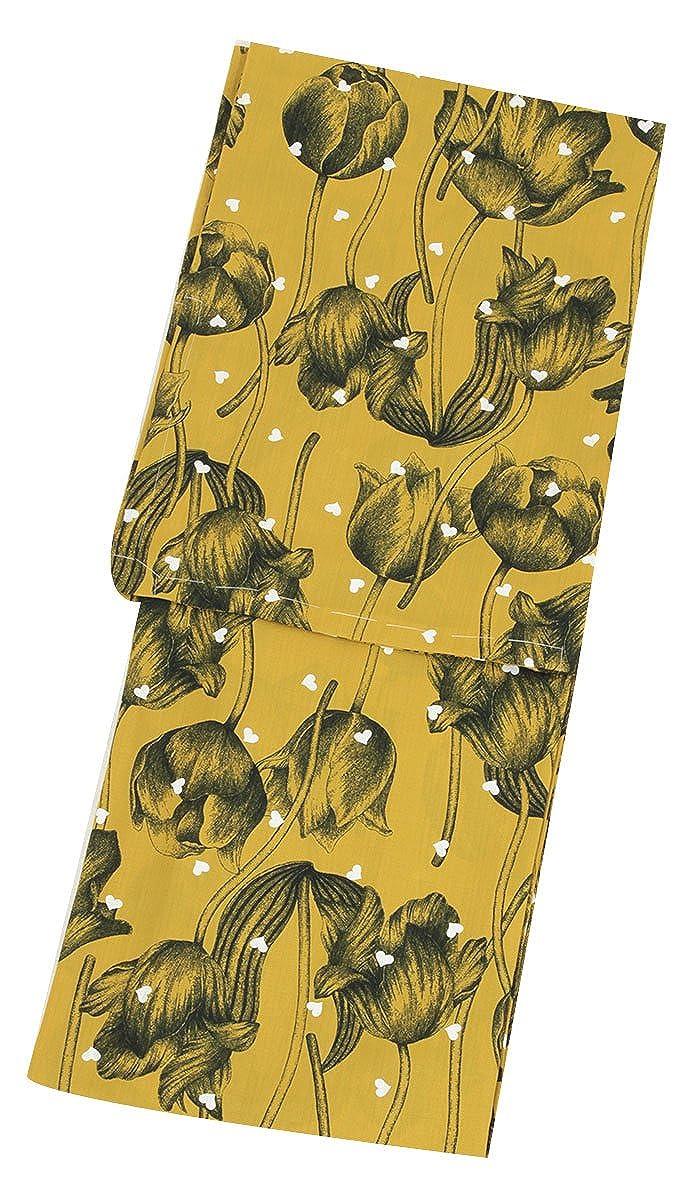 (キステ) Kisste 浴衣 単品 《和風館×Fruttarossa》 お仕立て上がり浴衣 <カラシ/チューリップ> ポリエステル100% セオアルファ セオa 日本製 5-7-01056 B07DNXPH6Y