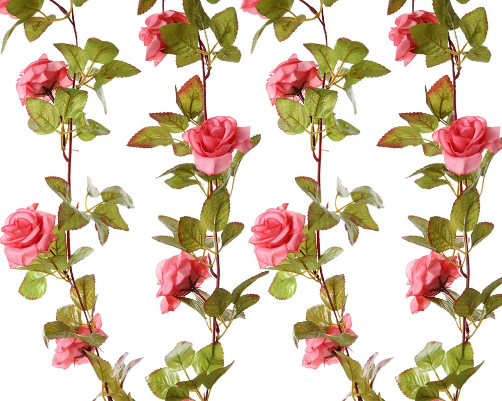 Felice-Arts-2-Pack-17-Heads-72-Ftpc-Artificial-Silk-Fake-Flowers-Autumn-Rose-Vine-Realistic-Hanging-Silk-Rose-Plants-Wedding-Home-Party-Arch-Decor-Pink