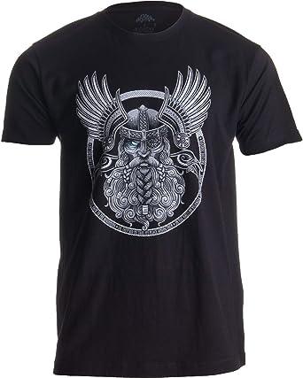 Ann Arbor T-shirt Co. Motivo Vikingo para Amantes de la mitología nórdica - Odín en Valhalla - Camiseta para Hombre X-Large Negro - X-Grande - XL: Amazon.es: Ropa y accesorios