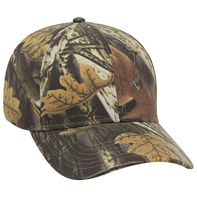 OTTO Camouflage Brushed Cotton Blend Twill 6 Panel Low Profile Baseball Cap  - Blk Dk c5ebd10f2ad
