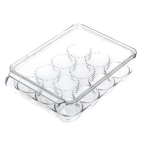 TKD6102 Kunststoff Transparent Eier Aufbewahrungsbox Lagerbeh/älter Vorratsbox durchsichtig TUKA Eierhalter mit Deckel f/ür 12 Eier K/ühlschrank K/üche Eierbeh/älter Eierbox