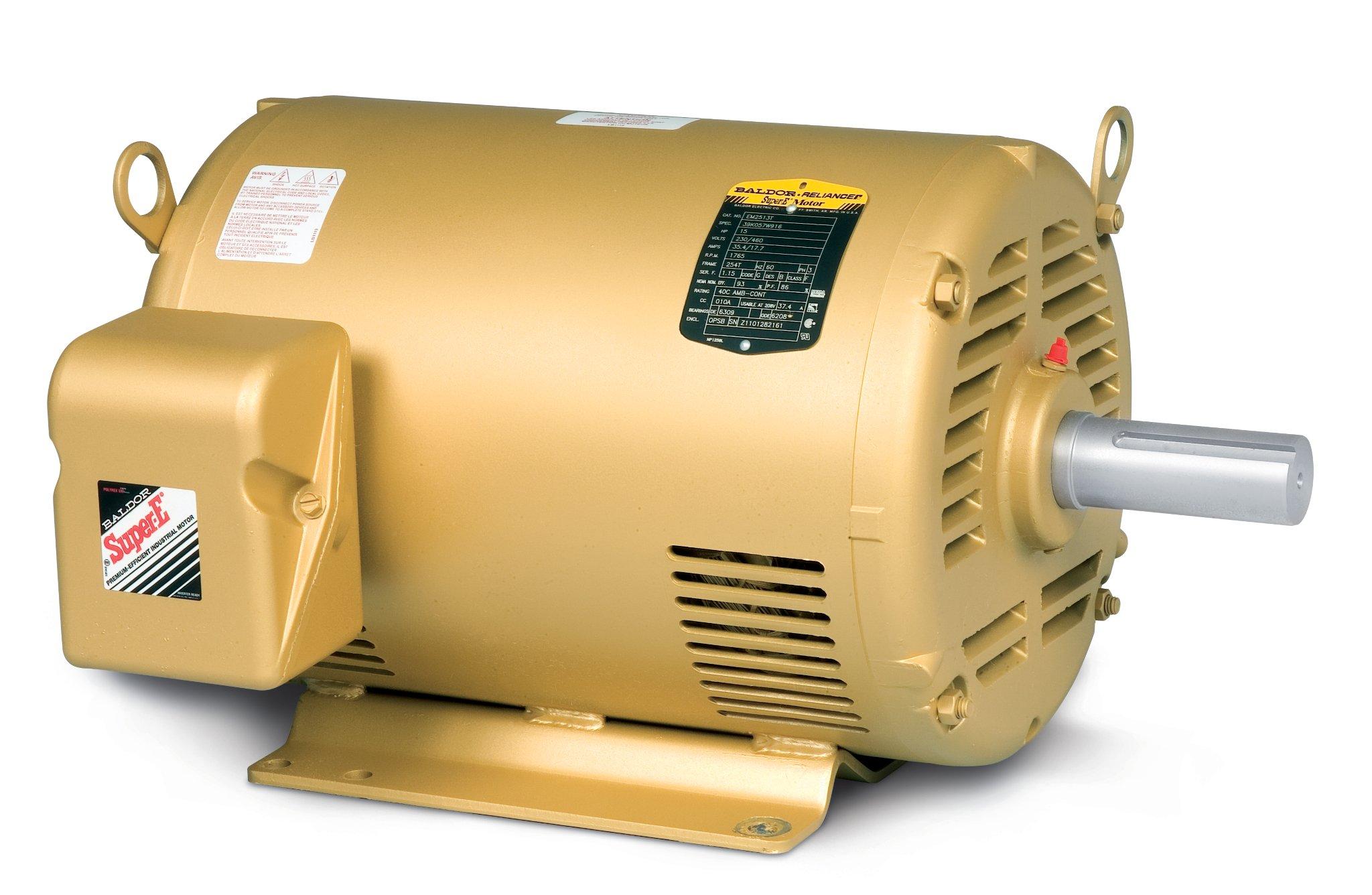 BALDOR EM31115 Small Motor Rule, Three Phase, Open Drip Proof, Foot Mounted, General Purpose Motor, 1 hp, 3450 RPM, 3PH, 60 Hz, 56, 3420M, ODP, F1, N, 208-230/460V, Steel