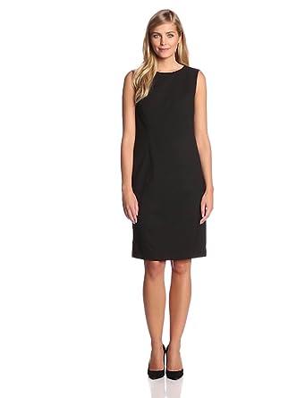 Jones New York Womens Mallory Sleeveless Sheath Dress Jade Black
