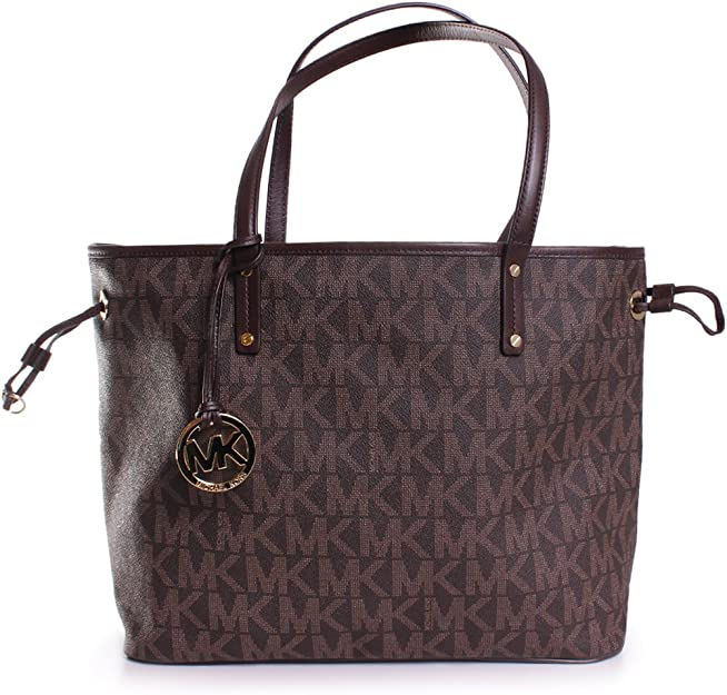 NEW AUTHENTIC MICHAEL KORS JET SET LARGE REVERSIBLE TOTE (BrownSand)