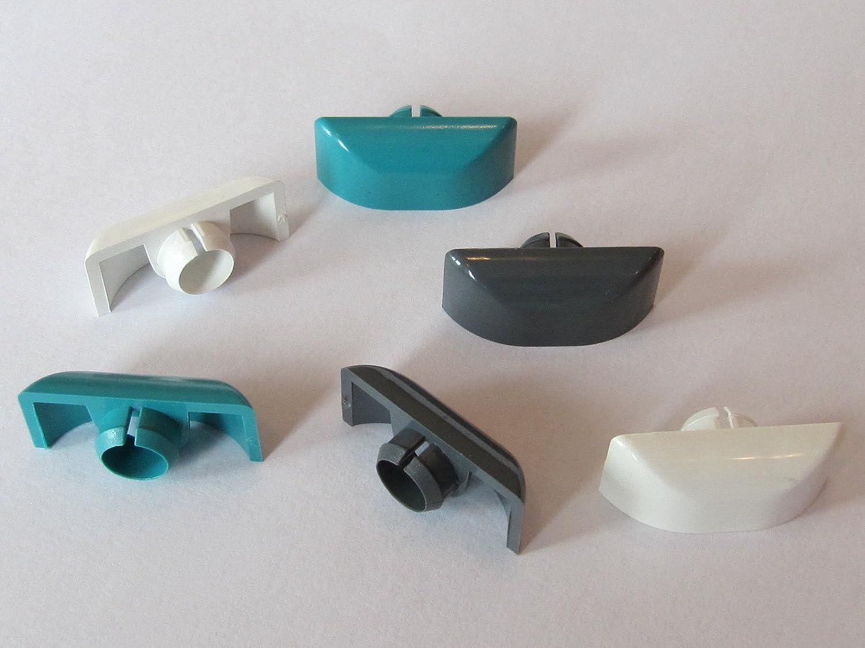 Design-Entwässerungskappe half-pipe weiß (VE: 20 Stück) Grotefeld Kunststofftechnik GmbH