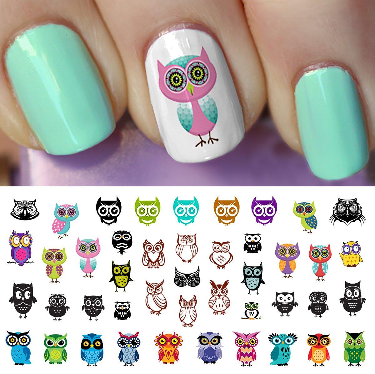 Amazon owl assortment nail art waterslide decals set 1 owl assortment nail art waterslide decals set 2 salon quality prinsesfo Images