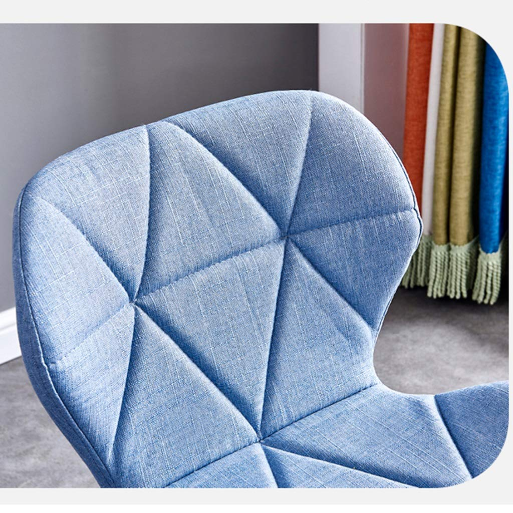 HEJINXL Matstolar bomull och linne tyg baksida vardagsrum stolar med boktben köksstolar för hem dator stol (4 delar set) (färg: C) en