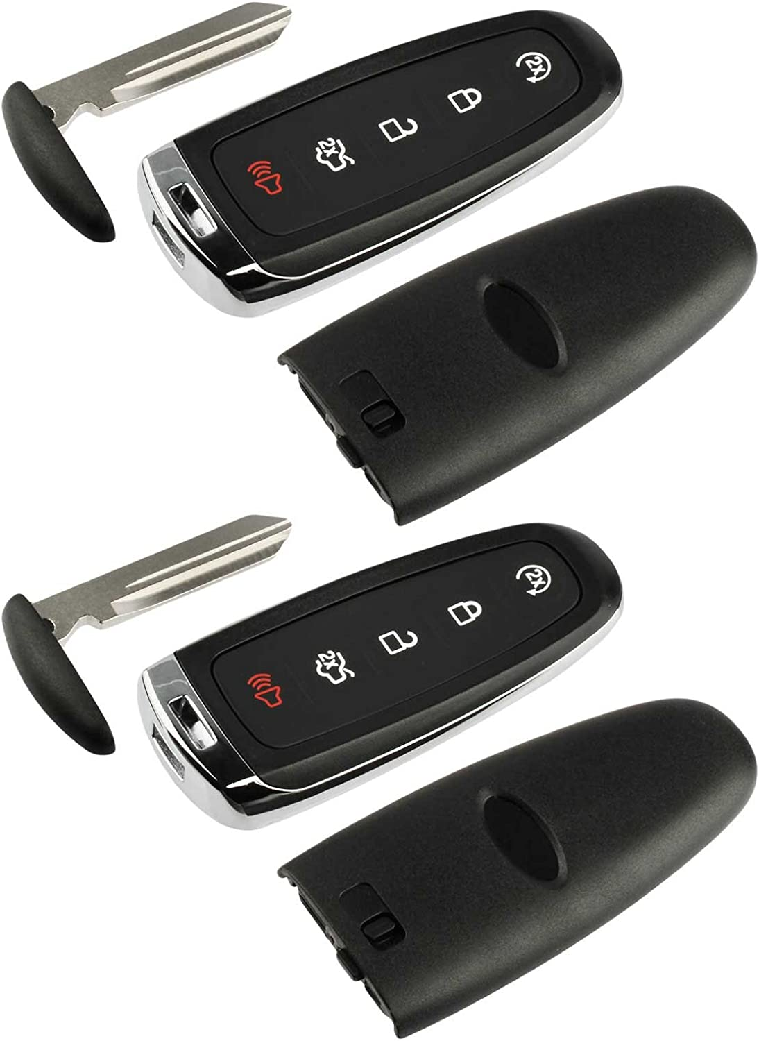 M3N5WY8609 Shell Case Key Fob Keyless Entry Remote fits Ford Edge Expedition Explorer Flex Focus Taurus Lincoln MKX MKS MKT Navigator 2011 2012 2013 2014 2015 2016