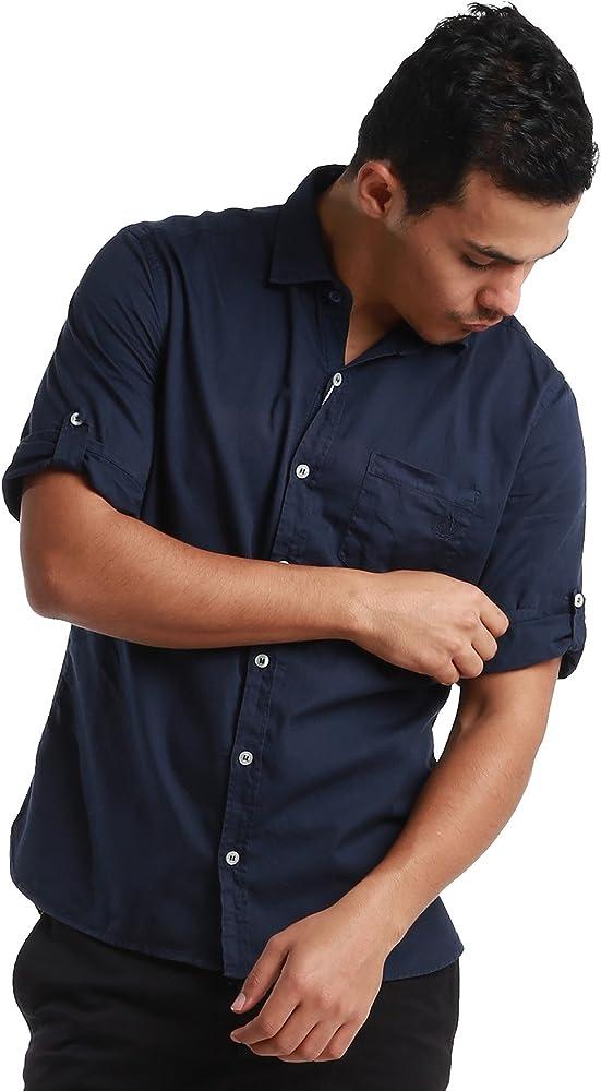 Fred Perry Etiqueta Verde Camiseta de Manga Corta para botón Abajo Camisa – Fabricado en Italia Azul Marino Small: Amazon.es: Ropa y accesorios