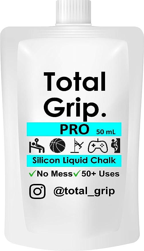 Total Grip - Tiza líquida Invisible para Levantamiento de Pesas, 50 ml, para Escalada de Golf, Yoga, Squash, Tenis, bádminton para Manos secas