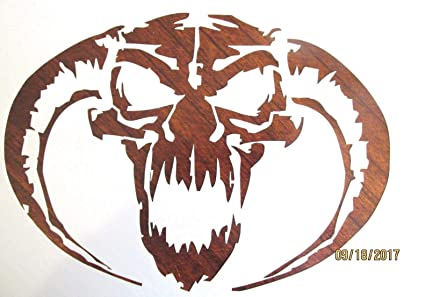 amazon com outletbestselling reusable sturdy demon skull stencil