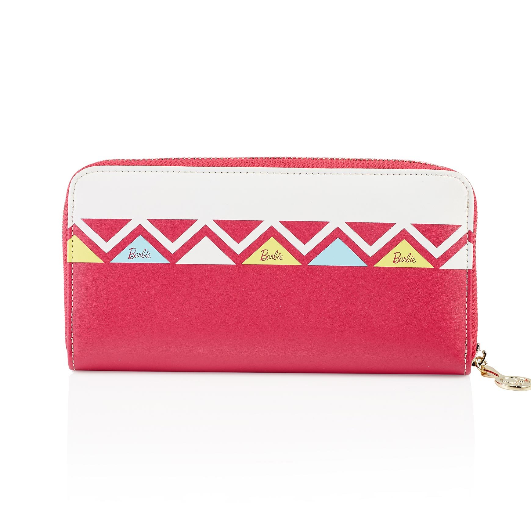Barbie Modern Series Simple Multicolored Geometric patterns Women Purse #BBPS017 (red)
