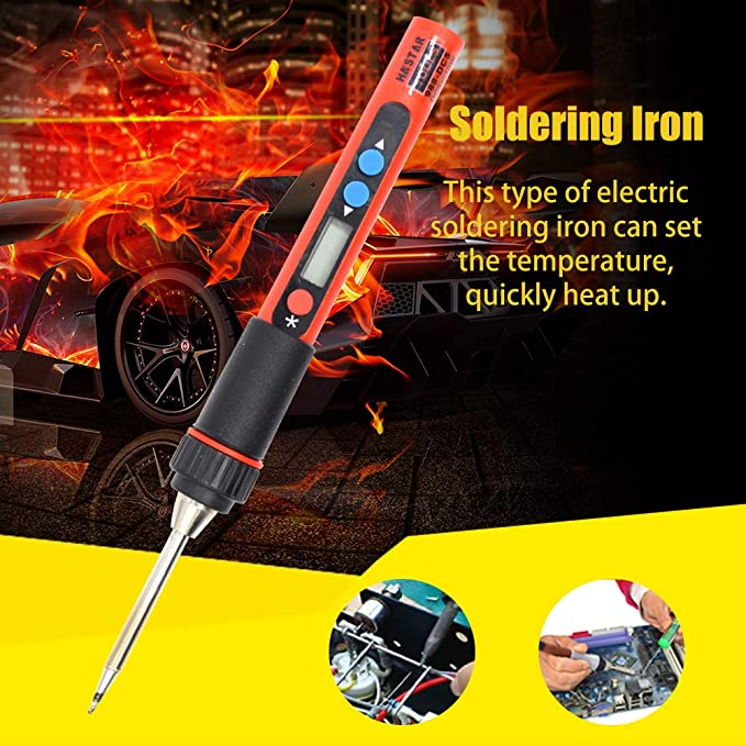 KKmoon Electric Soldering Iron Mini Portable Digital Display High Precision Adjustable Temperature Electric Soldering Iron Set with USB Cable - - Amazon.com
