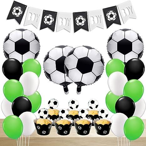 Amazon.com: Fútbol decoraciones de fiesta de fútbol globos ...