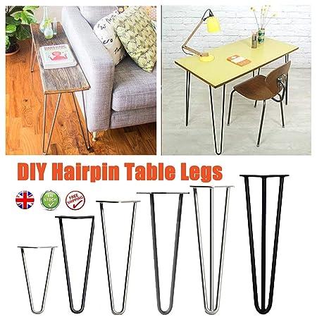 4 patas de mesa de horquilla resistentes con tornillos y patas ...