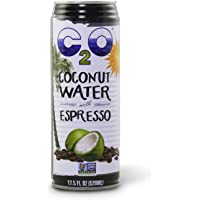 C2O Pure Coconut Water with Espresso, 17.5 Fluid Ounce (Pack of 12)