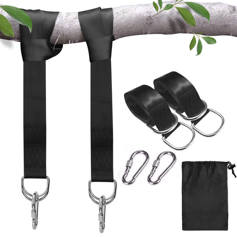 Sangles de suspension pour balan/çoire darbre balan/çoires en corde pour arbre terylene 1000kg convient /à toutes les balan/çoires et hamacs kit de suspension avec mousquetons de s/écurit/é 3m