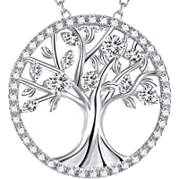 Elda&Co Fine Jewelry for Womans Birthday April Birthstone Necklace Sterling Silver Simulated Diamond Jewelry for Her