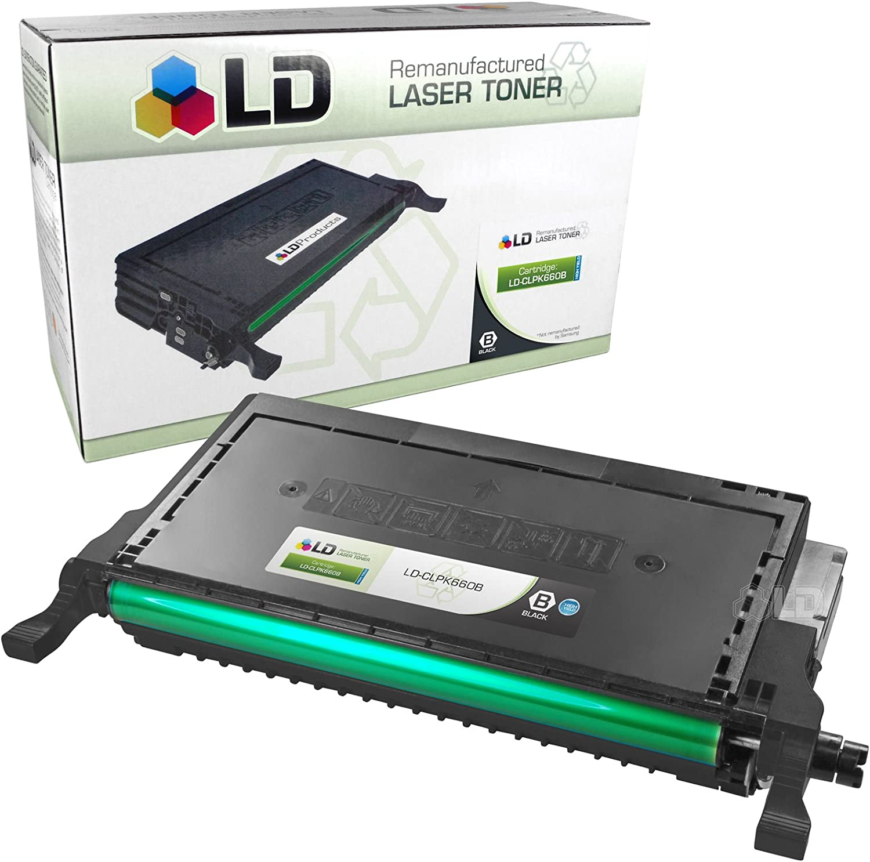 LD CLP-K660B Black Laser Toner Cartridge for Samsung Printer