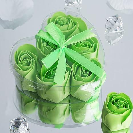 Amazon Com Balsacircle 50 Apple Green Cute Favor Heart Gift Boxes