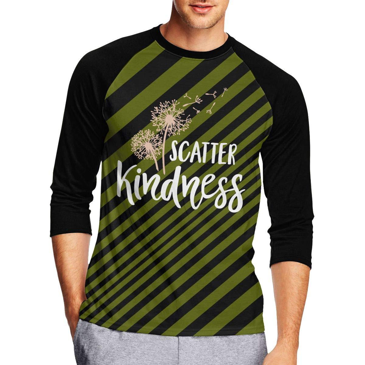 DFGHJZH-L Scatter Kindness Mens Funny Adult Long-Sleeved T Shirt
