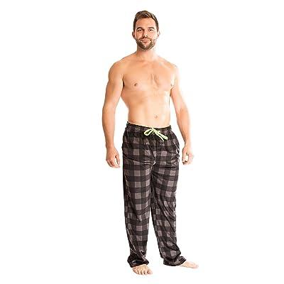 Bottoms Out Men's Comfortable Super Soft Designer Mink Fleece Pajama Sleep PJ Lounge Pants For Men at Amazon Men's Clothing store