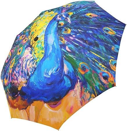 Folding Umbrella Rainproof /& Windprrof Umbrella Painting Style Custom Umbrella Automatic