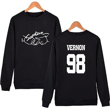 Hihihappy Fashion Seventeen Hoodies For Women Fashion Member Name Print O Neck Fleece Sweatshirt Women Pullover