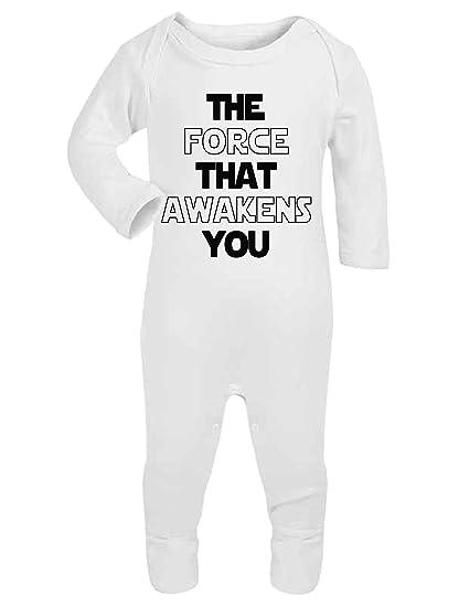 El despertar de la fuerza que le Star Wars bebé pijama Babygrow Mono Funny Jedi blanco